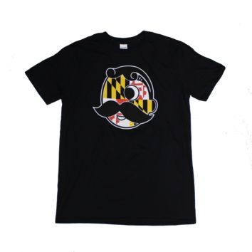 Natty Boh Logo with Maryland Flag (Black) / Shirt