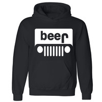 Zexpa Apparel™ Beer Jeep Unisex Hoodie Funny Collage Party Dope Swag Design Hooded Sweatshirt