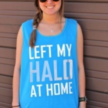 Left My Halo at Home Comfort Colors Tank