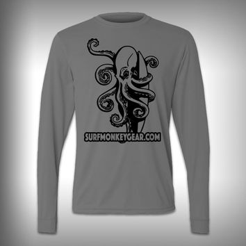 Octopus - Performance Shirt - Fishing Shirt - Decal Shirts
