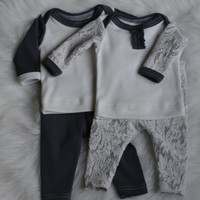 TwinTake Home Outfits, Coming Home Outfit for Boy Girl Twins, Newborn Clothing, Coordinating Twin Outfits,Twin Knot Hats, Deer Elk leggings