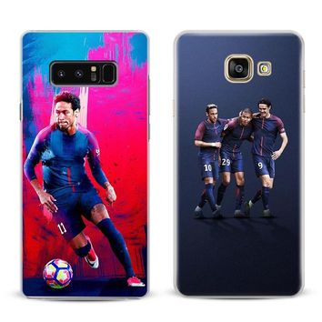 Neymar JR PSG Coque For Samsung Galaxy S4 S5 S6 S7 Edge S8 S9 Plus Note 8 2 3 4 5 A5 A7 J5 2016 J7 2017 Phone Case Shell Cover