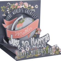 Chalkboard Words and Flowers card