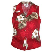 lava hawaiian sleeveless blouse