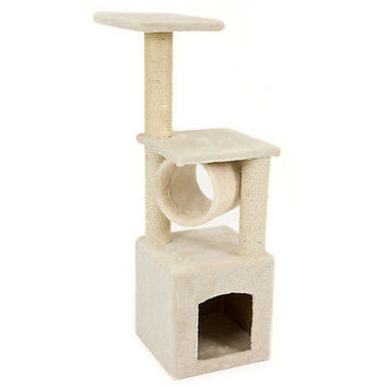 "Deluxe Cat Tree 36"" Condo Furniture Scratching Post Pet House Play Toy"