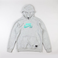 Nike Sb Icon Gradient Hooded Sweatshirt Dark Grey Heather / Crystal Mi