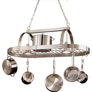 Kalco Lighting 3617SN Satin Nickel Pot Rack