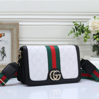 GUCCI Fashion Leather Crossbody Shoulder Bag Satchel