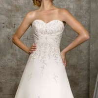 Strapless Embellished Wedding Gown by Mori Lee Bridal