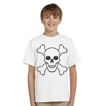 summer Skeleton print T-Shirt tee Fashion good Cotton Children Boys T Shirts Tops Child Clothing skull T-shirt for teenager