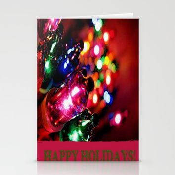 HAPPY HOLIDAYS Stationery Cards by Jessica Ivy
