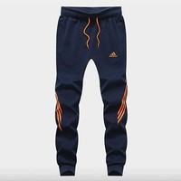 ADIDAS autumn new sports pants casual stretch running pants Blue