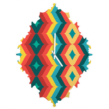 Juliana Curi Chevron 4 Baroque Clock