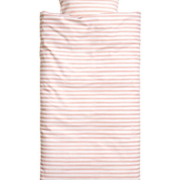Striped Duvet Cover Set - from H&M