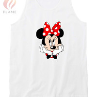 Disney Minnie Mouse Hipster Nerdy Unisex Tank Tops
