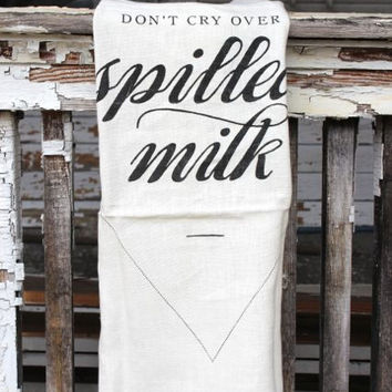 Linen Spilled Milk Tea Towel