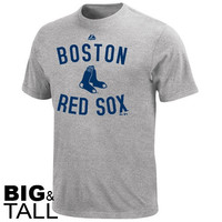 Majestic Boston Red Sox Big & Tall Authentic Edge T-Shirt - Ash