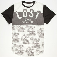 Lost Nutty Mens T-Shirt White/Black  In Sizes