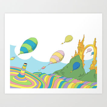 oh the places you'll go .. dr seuss Art Print by Studiomarshallarts