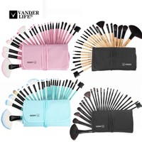 VANDER 24 pcs brand Makeup Brushes Professional Cosmetic Brush set High Quality Makeup Set With Case Artist Make up Brush Tool