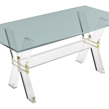 Xavier Coffee Table, Small, Acrylic / Lucite,