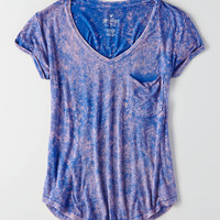 AEO Soft & Sexy V-Neck Favorite T-Shirt, Blue