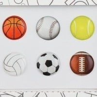 Bubble Buttons Home Button Sticker Sports Pack of 6 / iPad/iPhone/iPod