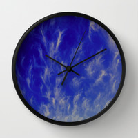 sky pattern Wall Clock by Marianna Tankelevich