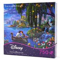 disney thomas kinkade little mermaid ariel eric 750 pieces puzzle new with box