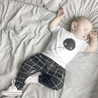 New 2016 summer cotton baby boys clothes short-sleeved baby romper newborn  clothes jumpsuit infant clothing