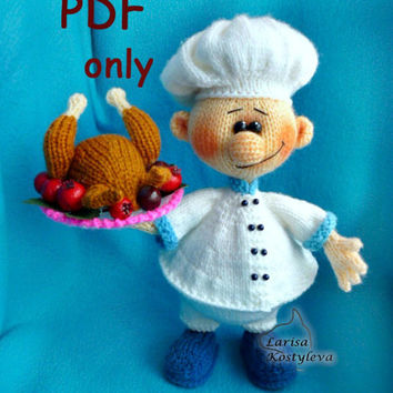 Cook, knitting amigurumi, PDF pattern