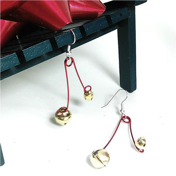 f6687618f Holiday Bell Earrings 1 3/4