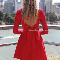 PRE ORDER - THE LUCKY ONE DRESS (Expected Delivery 18th December, 2013) , DRESSES, TOPS, BOTTOMS, JACKETS & JUMPERS, ACCESSORIES, SALE, PRE ORDER, NEW ARRIVALS, PLAYSUIT, COLOUR, GIFT VOUCHER,,LACE,Red,BACKLESS Australia, Queensland, Brisbane