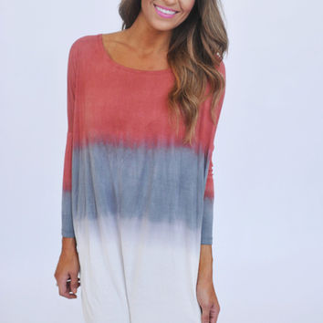 Red Ombre Tunic