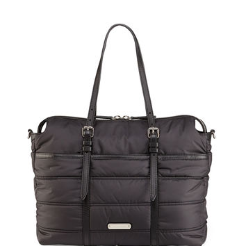 Abbey Quilted Nylon Diaper Tote Bag - Burberry