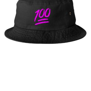 100 emojie pink Bucket Hat