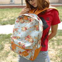 YESSTYLE: Skyblue- Floral Backpack - Free International Shipping on orders over $150