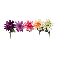 SMYCKA Artificial flower, Dahlia assorted colors - IKEA