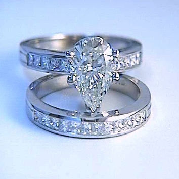 pear lovely with shaped rings fresh bands engagement wedding diamond of awesome band elegant