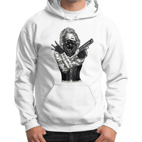 Marilyn Monroe 'Gangstified' Gildan Hoodie (on man)