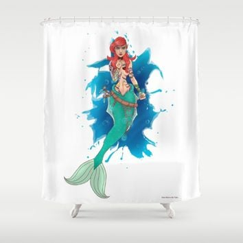 Tales of a little mermaid Shower Curtain by DontBelieveTheTales