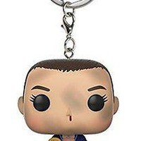 Funko Pop Keychain Stranger Things Eleven with Eggo (No Wig) Action Figure