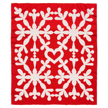 Knit Baby Blanket with Snowflake Pattern, Blankets