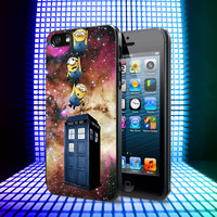 Minions Drop to Tardis iPhone 4, 4S, 5, 5C, 5S Samsung Galaxy S2, S3, S4 Case