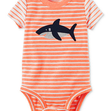 Carter's Striped Shark Bodysuit, Baby Boys (0-24 months) | macys.com