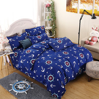 Summer Bedding Sets Blue Sea Despereaux Voyager Rudder Reactive Printing Quilt Cover Pillowcase King Queen Full Twin Bed Sheets