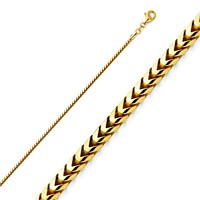 Franco 1mm 18kt Gold Plated Chain