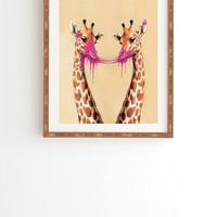 Coco De Paris Giraffes With Bubblegum 2 Framed Wall Art