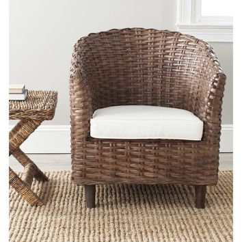 Safavieh Omni Barrel Brown Chair | Overstock.com Shopping - The Best Deals on Living Room Chairs
