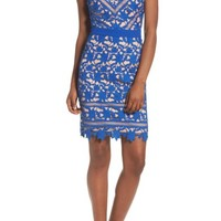 Adelyn Rae Whitney Lace Sheath Dress | Nordstrom